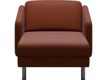 Stressless® Longseat »Eve« mit geraden Edelstahlfüßen in 2 Höhen, rot, Stahlfuß rund, Höhe 14 cm, chilli red BATICK