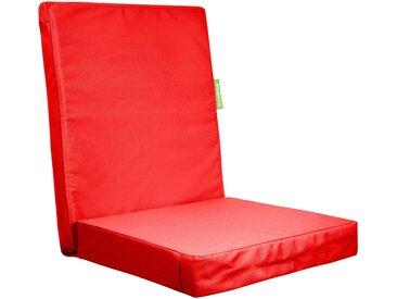 OUTBAG Auflage »Highrise PLUS«, wasserfest für draußen, B/L: 50x105 cm, rot, 1 Auflage, rot