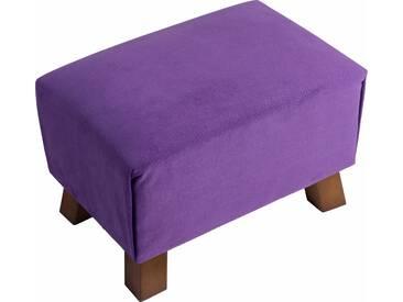 Max Winzer® Hocker »Footstool« mit Reptiliendruck, lila, lila