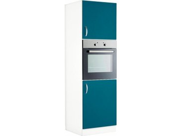 wiho Küchen Backofenumbauschrank »Flexi«, Höhe 200 cm, blau, Ozeanblau