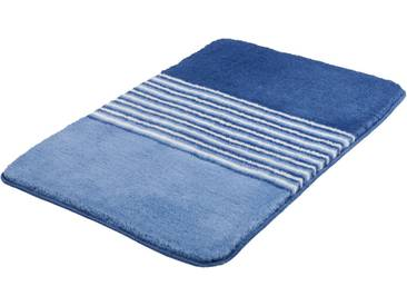 MEUSCH Badematte »Julia« , Höhe 20 mm, rutschhemmend beschichtet, fußbodenheizungsgeeignet, blau, 20 mm, stahlblau