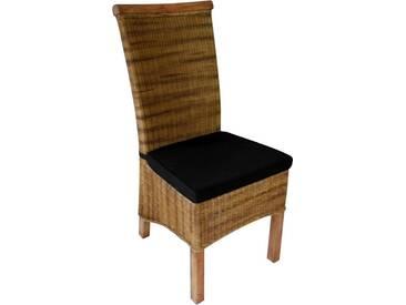 SIT Stuhl »Rattan Vintage« mit Kissen, natur, natur