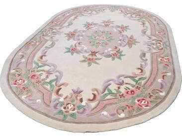 THEKO Teppich »Ming«, oval, Höhe 14 mm, Hochwertiges Acrylgarn, natur, 14 mm, beige
