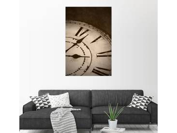 Posterlounge Wandbild »Bild einer alten Vintage-Uhr«, braun, Leinwandbild, 80 x 120 cm, braun