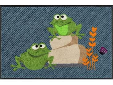 wash+dry by Kleen-Tex Fußmatte »Egon & Edith«, rechteckig, Höhe 7 mm, In- und Outdoor geeignet, waschbar, grün, 7 mm, grün