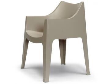 SalesFever Gartenstuhl mit Armlehnen aus Kunststoff »Coccolona«, grau, taubengrau
