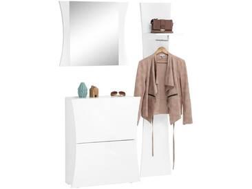 Tecnos Garderoben-Set »Arco« (3-tlg.), weiß, weiß Hochglanz
