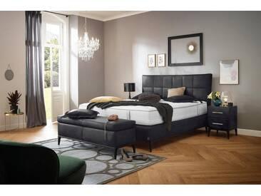 ADA premium Boxspringbett »Smart Elegance« Grand Comfort TF 1000 PM, blau, 7-Zonen-Tonnentaschen-Federkernmatratze H2, blaugrau/anthrazit FOG 8