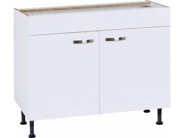 Spülenschrank »Cara« Breite 100 cm, weiß, 100x87x58,4 (BxHxT) cm, 2-türig, weiß/weiß