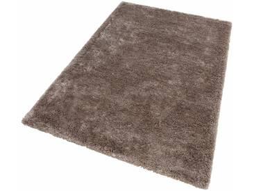 LALEE Hochflor-Teppich »Monaco«, rechteckig, Höhe 45 mm, silberfarben, 45 mm, silberfarben
