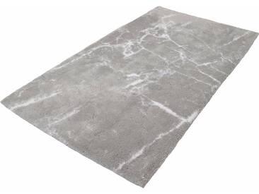 Kleine Wolke Badematte »Como« , Höhe 10 mm, rutschhemmend beschichtet, fußbodenheizungsgeeignet, grau, 10 mm, silberfarben-grau