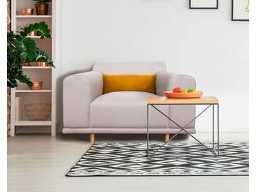 andas Sessel/Loveseat »Maroon« in skandinavischem Design, mit losem Kissen, grau, hellgrau