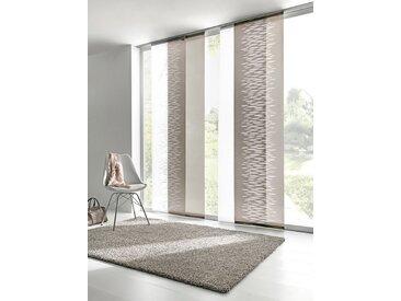 heine home Schiebevorhang in Scherli-Qualität, braun, mit Flausch- und Klettband, taupe