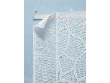Schiebevorhang, weiß, Klettschiene, Polyester, mit Dreieck, weiß