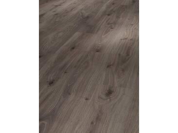 PARADOR Laminat »Basic 400 - Eiche geräuchert weiss geölt«, 1285 x 194 mm, Stärke: 8 mm, grau, grau