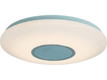 AEG Leuchten LED Deckenleuchte »Bailando«, mit Bluetooth-Lautsprecher, weiß, Ø38 cm, titansilberfarben