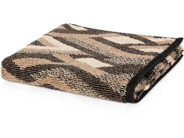 Möve Duschtücher »Modernism Rhomben«, mit samtig glänzender Oberfläche, braun, brown