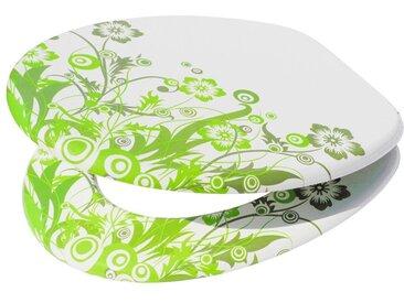 Sanilo SANILO WC-Sitz »Dublin«, mit Absenkautomatik, grün, weiß/grün