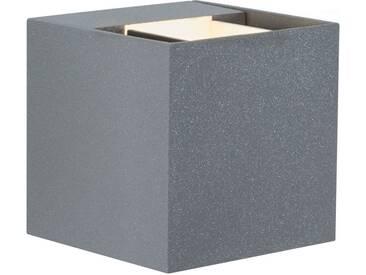 Paulmann LED Außen-Wandleuchte »Cybo eckig 80x80 mm 2x3W grau«, 2-flammig, grau, 2 -flg. /, grau