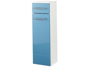 HELD MÖBEL Held Möbel Unterschrank »Porto«, Breite 25 cm, blau, türkis/weiß