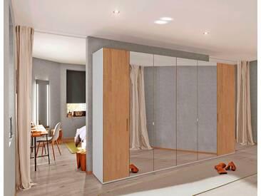 INOSIGN Drehtürenschrank mit mittigem Spiegel, 300 cm, weiß