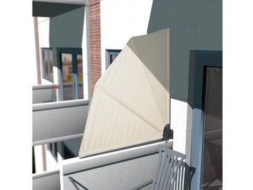 KONIFERA Balkonsichtschutz Balkonfächer »Markise«, BxH: 140x140 cm, natur, 140 cm, natur