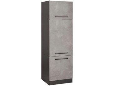 HELD MÖBEL Kühlumbauschrank »Tulsa«, grau, betonfarben