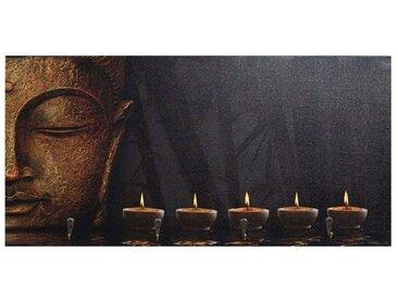 MCW Garderobenpaneel »-C75 Asien kleine Haken«, braun, Buddha