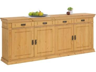 Home affaire Sideboard »Vinales« im klassischen Landhausstil, Breite 204 cm, natur, natur geölt