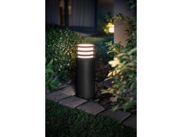 Philips Hue LED Sockelleuchte »Lucca«, 1-flammig, LED Außenleuchte - smartes LED-Lichtsystem mit App-Steuerung, grau, 1 -flg. /, anthrazit
