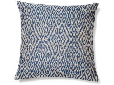 Casa di Bassi Dekokissen »mit grafischem Muster«, ÖkoTex 100 Standard 100, blau, Baumwolle-Kunstfaser, blau