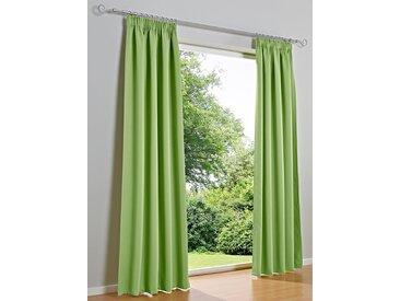 heine home Dekoschal unifarben, grün, mit Universalgardinenband, grün
