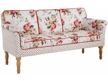 Home affaire 3-Sitzer Küchensofa »Lancaster«, mit Federkern, ideal als Speisemöbel, natur, Rose/karo beige