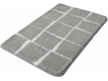 Kleine Wolke Badematte »Carat« , Höhe 20 mm, rutschhemmend beschichtet, fußbodenheizungsgeeignet, grau, 20 mm, nebel