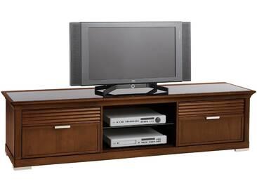 SELVA TV-Lowboard »Luna« Model 5233 , mit dekorativen Fräsungen, braun, nußbaumfarbig antik