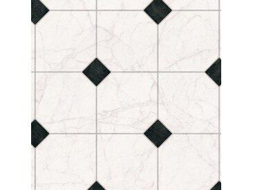 Andiamo ANDIAMO Vinylboden »PVC Auslegeware«, verschiedene Breiten Meterware, Fliesen-Optik, weiß, 200 cm, schwarz/weiß