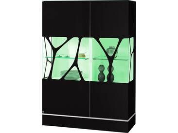 LEONARDO living Highboard »CUBE« mit Genetics, Höhe 110 cm, natur, Mit RGB Beleuchtung & Fernbedienung, palazzo