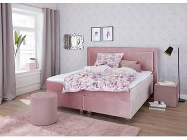 Guido Maria Kretschmer Home&Living GMK Home & Living Boxspringbett, mit Komfortschaum-Topper, rosa, 7-Zonen-Tonnentaschenfederkern-Matratze, H2