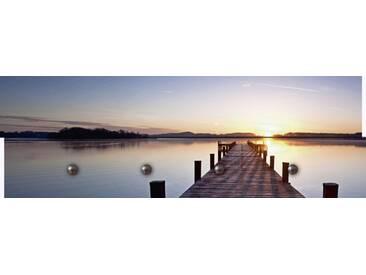 Artland Wandgarderobe »peppi18: Sonnenstrahlen - Sonnenuntergang«, blau, 30 x 90 x 2,8 cm, Blau