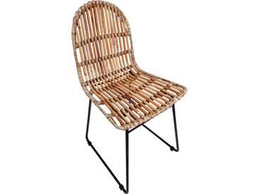 SIT Stühle »Rattan Vintage« mit modernem Kufengestell, 2er-Set, natur, natur