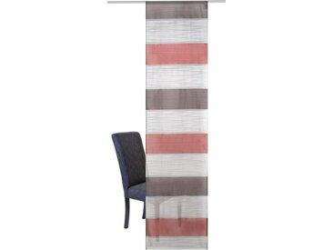 HOME WOHNIDEEN Schiebegardine »Sarnia«, Klettband (1 Stück), ohne Montagezubehör, rot, marsala