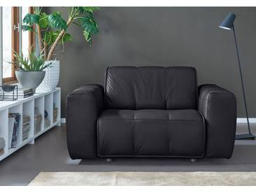 NATUZZI EDITIONS Sessel »Alessio« in zwei Lederqualitäten, schwarz, black