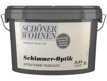 SCHÖNER WOHNEN-Kollektion SCHÖNER WOHNEN FARBE Spezialfarbe »Schimmer-Optik Effektfarbe pearldust«, glänzend 2,5 l, silberfarben, 2.5 l, pearldust