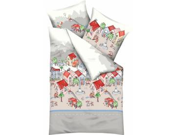 Kaeppel Kinderbettwäsche »Stadtleben«, mit Stadtmotiv, bunt, 1x 135x200 cm, Renforcé, multi