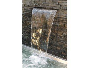 OASE Wasserfall , Edelstahl 90 cm, silberfarben, silberfarben