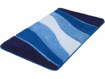 MEUSCH Badematte »Ocean« , Höhe 23 mm, rutschhemmend beschichtet, fußbodenheizungsgeeignet, blau, 23 mm, royalblau