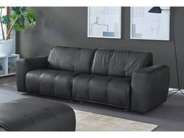 NATUZZI EDITIONS 3-Sitzer Ledersofa »Alessio« in zwei Lederqualitäten, schwarz, black