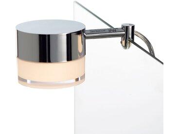 Spiegelleuchte »LED Aufsatzleuchte Garonne«, Ø8 cm, silberfarben, silberfarben