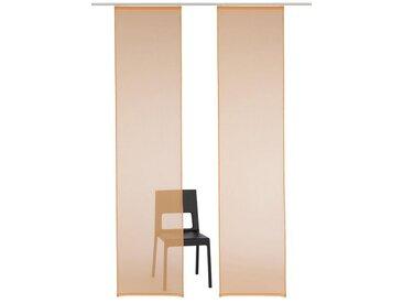 my home Schiebegardine »Xanten«, Klettband (2 Stück), Inkl. Befestigungszubehör, orange, Klettband, transparent, apricot