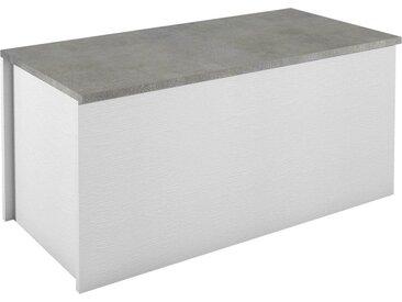 Sitztruhe »Container«, weiß, weiß/beton